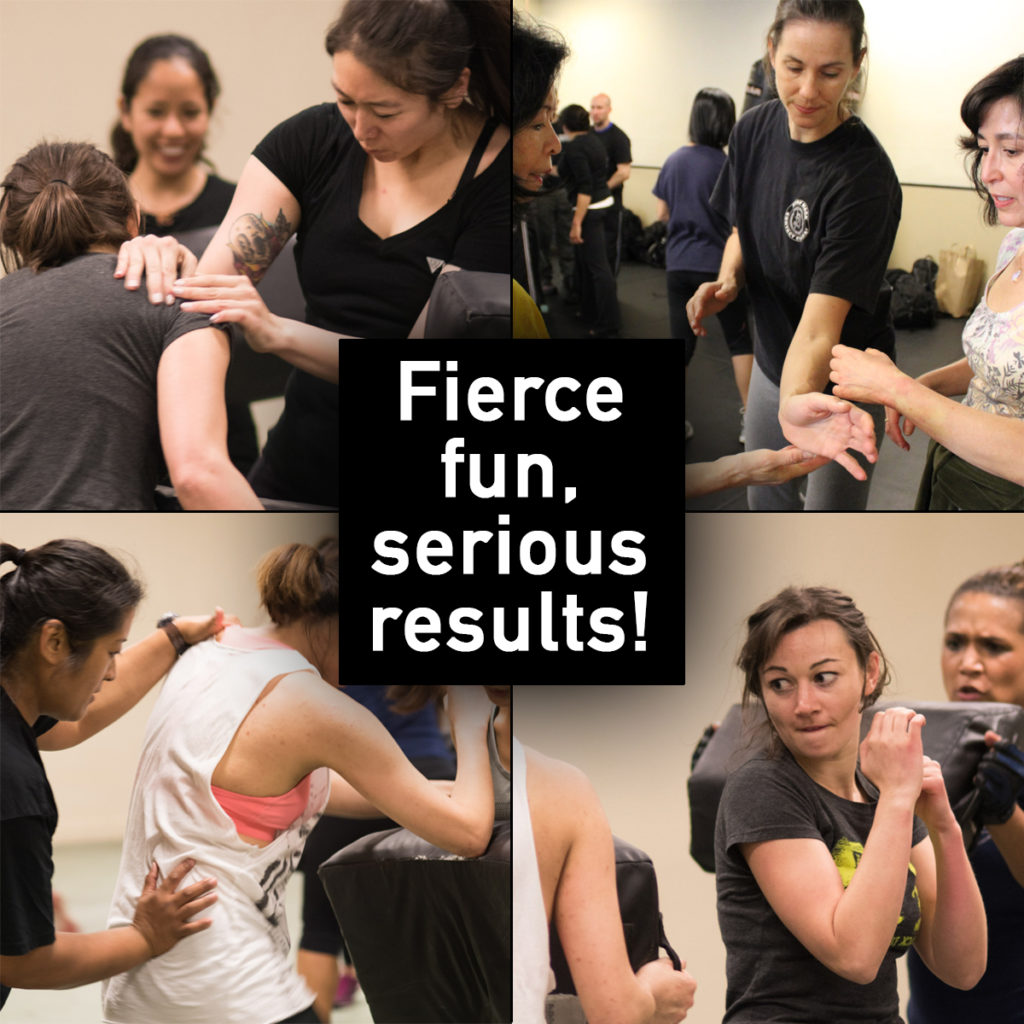 Women's self defense intro class.