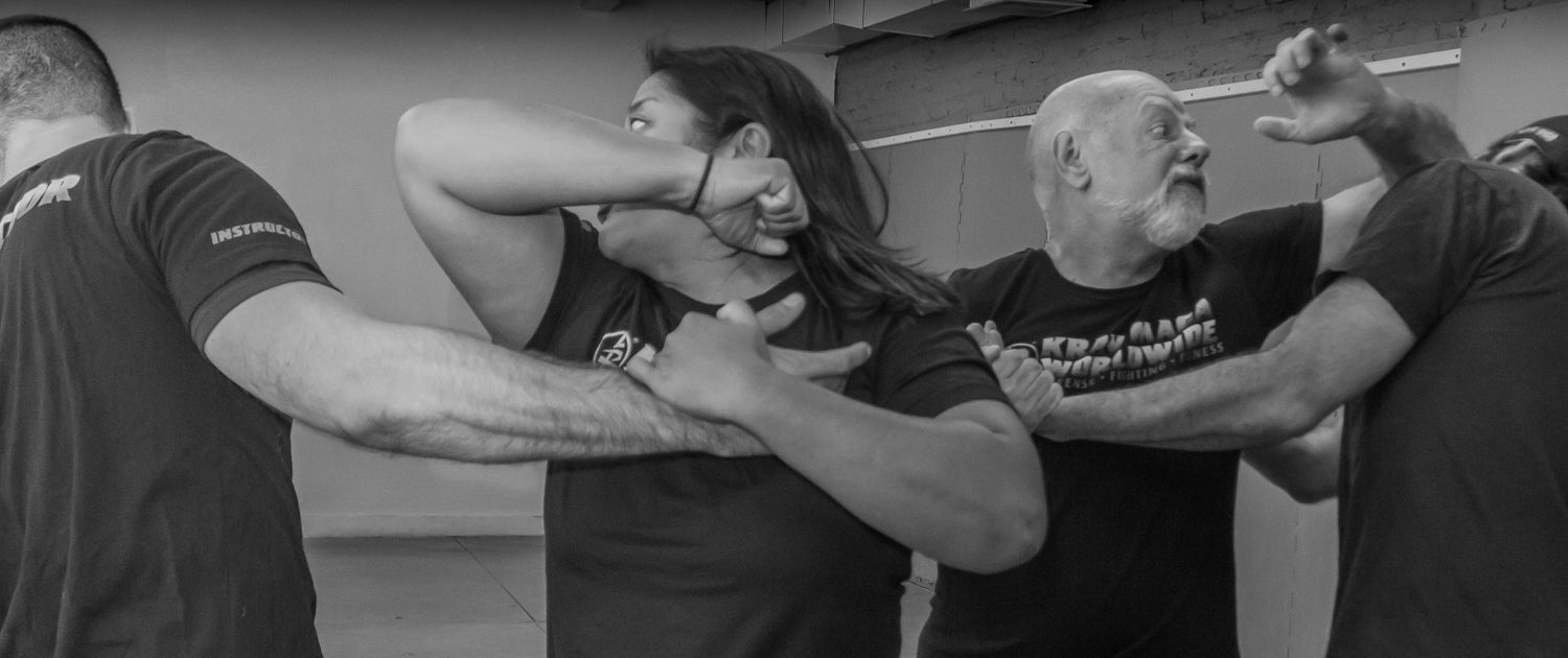 Krav Maga Self Defense - San Francisco Training Center Barny and Jenn elbow strikes